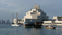 The Museum of Islamic Art on the Corniche - stock footage