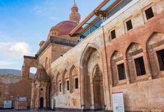 History Ishak Pasha Palace Dogubeyazit Turkey - stock photo