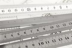 Blueprint & rulers Stock Photos