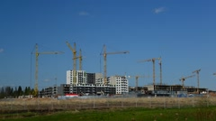 Moscow, Russia - May 06.2016. Moscow, Russia - May 06.2016. Construction of new Stock Footage