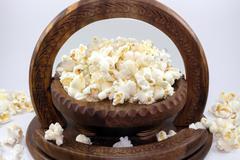 A Bowlful Popcorn Stock Photos