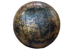 Vintage Spherical World Globe Showing Continent of Africa Stock Photos