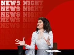 News presenter shouting Kuvituskuvat