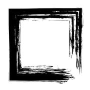 Square frame brush vector grunge paint watercolour ink Stock Illustration