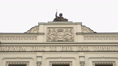 Upper Bavarian district government in Munich, Germany. Horizontal panorama Stock Footage