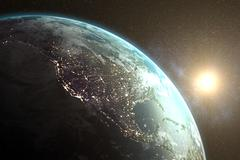 Image of earth - stock illustration