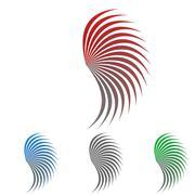 Wing logo vector set Stock Illustration