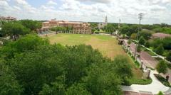 Aerial of Rollins College Campus in Orlando Florida Stock Footage