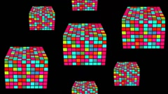 Disco cubes moving upwards VJ loop Stock Footage