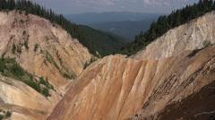 4K Groapa Ruginoasa in Apuseni, Romania, Natural Monument View, Mountains Trails Stock Footage
