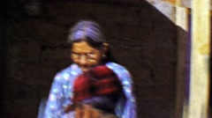 1957: Inuit Alaskan senior citizens wearing wearing style clothing. Stock Footage