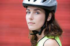 Female cyclist - stock photo