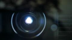 Digital Cinema Packaged Lens Reflection Stock Footage