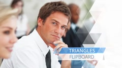 Triangle Flipboard - After Effects Template Kuvapankki erikoistehosteet