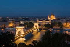 Szechenyi chain bridge budapest Stock Photos