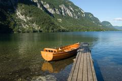 Lake bohinj slovenia Stock Photos