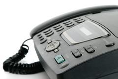 Fax machine closeup Stock Photos