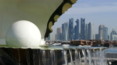 Close up from the Pearl Monument and fountain - stock footage