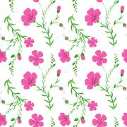 Abstract elegant seamless pattern with floral background Stock Illustration