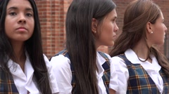 Teen Girls Waiting Impatiently Stock Footage