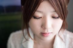 Portrait of a young japanese woman - stock photo