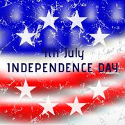 Greeting card - USA Independence Day Stock Illustration