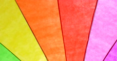 Rainbow Colored Umbrella Abstract Background - stock footage