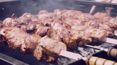 Meat on a Spit - stock footage