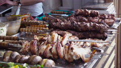 Showcases the Sale of Meat Stock Footage