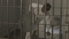 Modern Jail Scene - Working out in Prison - stock footage