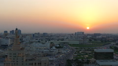 Time lapse from the FANAR Qatar Islamic Cultural Center during sunset Stock Footage