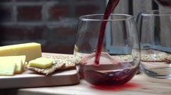 Pouring burgundy wine Stock Footage