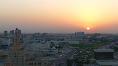 FANAR Qatar Islamic Cultural Center during sunset in Doha Stock Footage