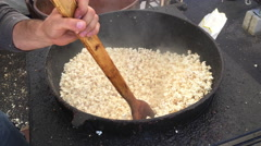 Kettle corn being made at festival 4k Stock Footage