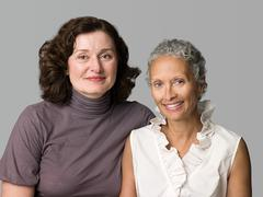 Two mature women Stock Photos