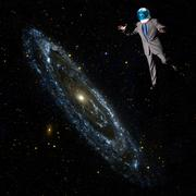 Businessman in outer space Kuvituskuvat