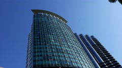 Modern business building in downtown Vancouver BC Canada Stock Footage