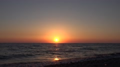 4K Ocean Sea Sunset Beach, Sunrise, Sundown, Dusk, Seashore Waves Seascape View Stock Footage