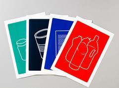 Recycling illustrations - stock illustration