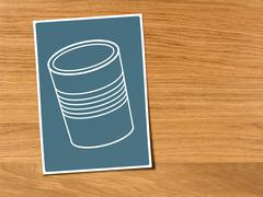 Illustration of a tin can - stock illustration