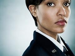 Portrait of an air woman Stock Photos