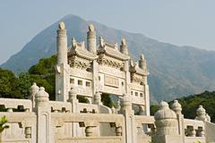 Po lin monastery lantau island Stock Photos