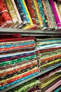 Textiles in shanghai market Stock Photos