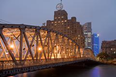 Garden bridge shanghai Stock Photos