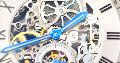 Automatic Men Watch With Visible Mechanism - stock footage