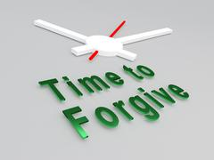 Time to Forgive concept Stock Illustration