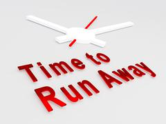 Time to Run Away concept - stock illustration