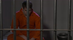 Modern Prison or Jail Scene - stock footage