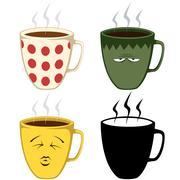 Coffee Mugs Stock Illustration