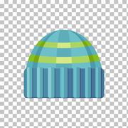 Winter Hat Isolated - stock illustration